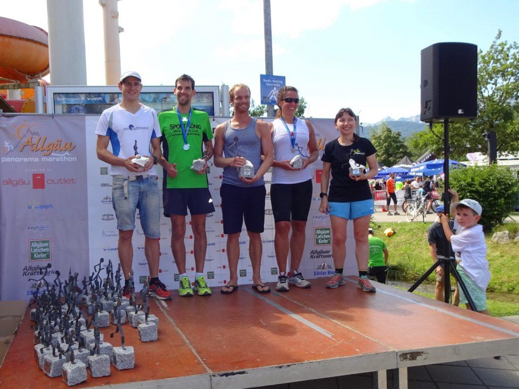 Siegerehrung Altersklasse Allgäu Panorama Marathon
