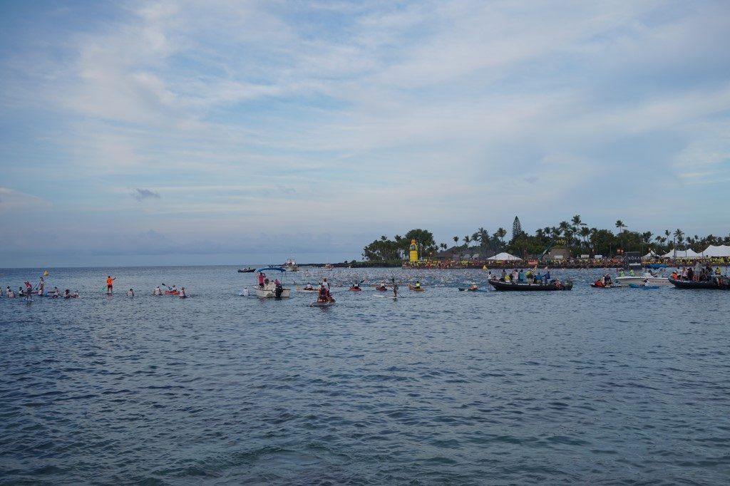 Schwimmen Schwimmstart Kailua Bay Ironman Hawaii Big Island