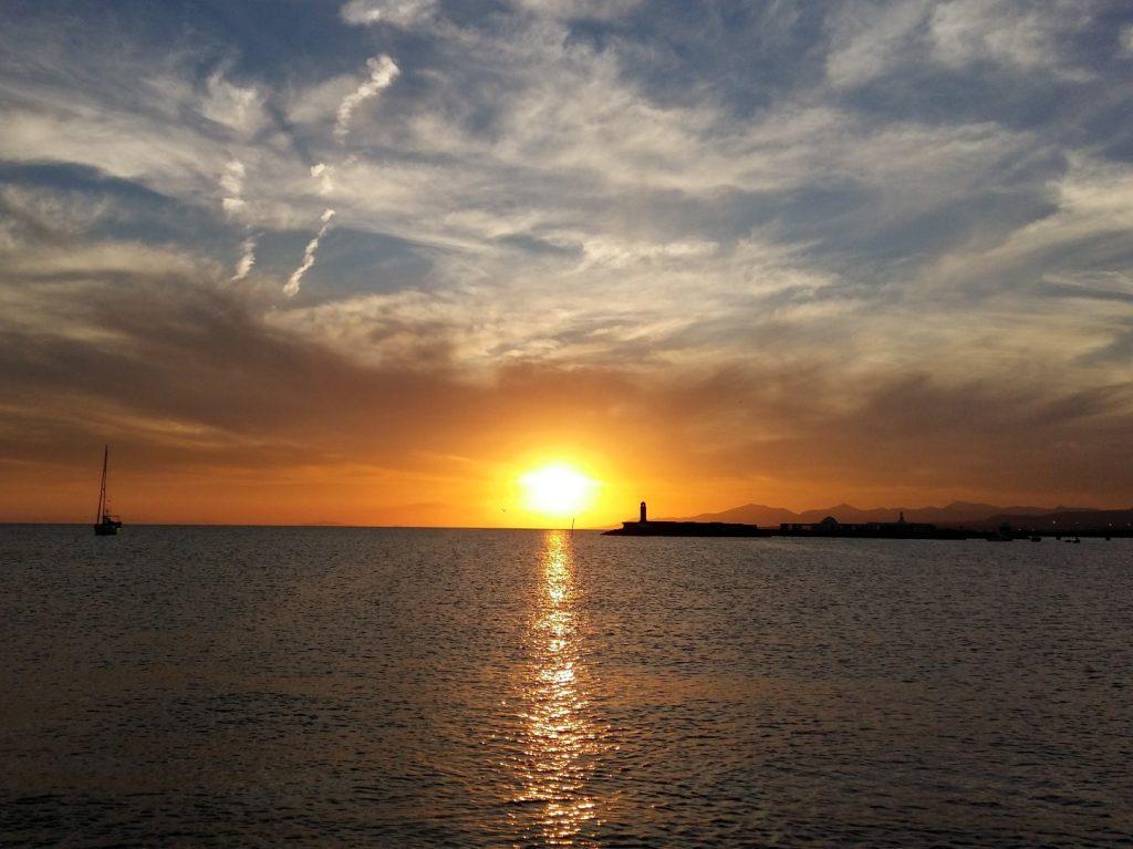 Sonnenuntergang Castillo de San Gabriel Arrecife Lanzarote