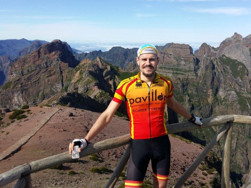 Pico do Areeiro Berg Straße Rad Auto Madeira