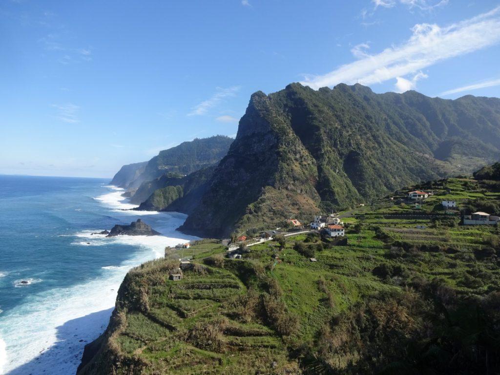 Nordküste Aussicht Berge Landschaft Madeira