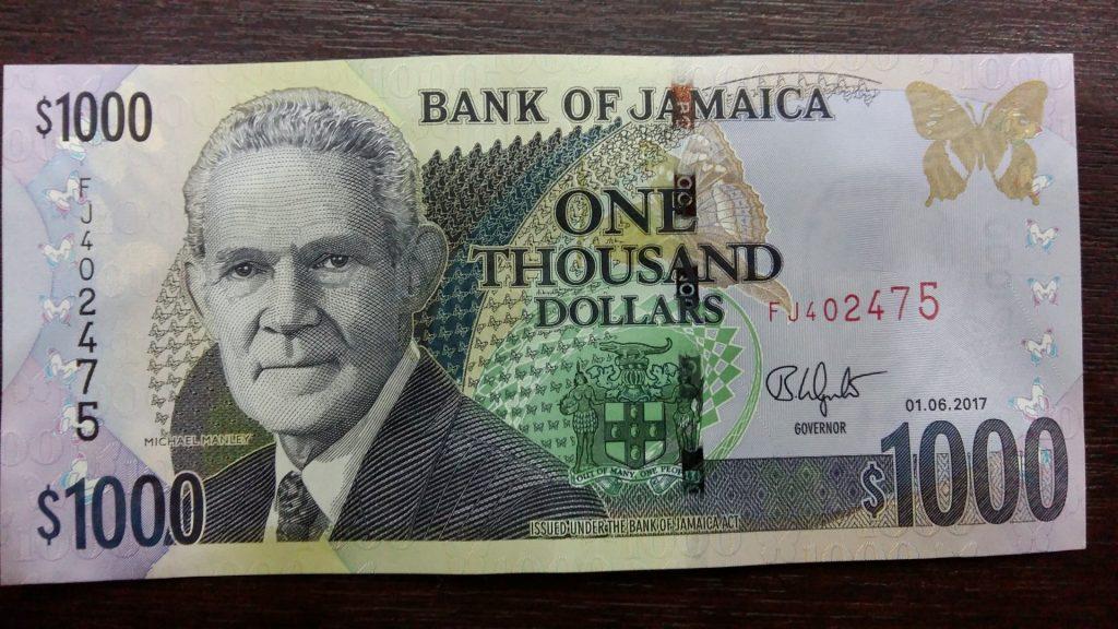 JMD Jamaika Dollar Schein