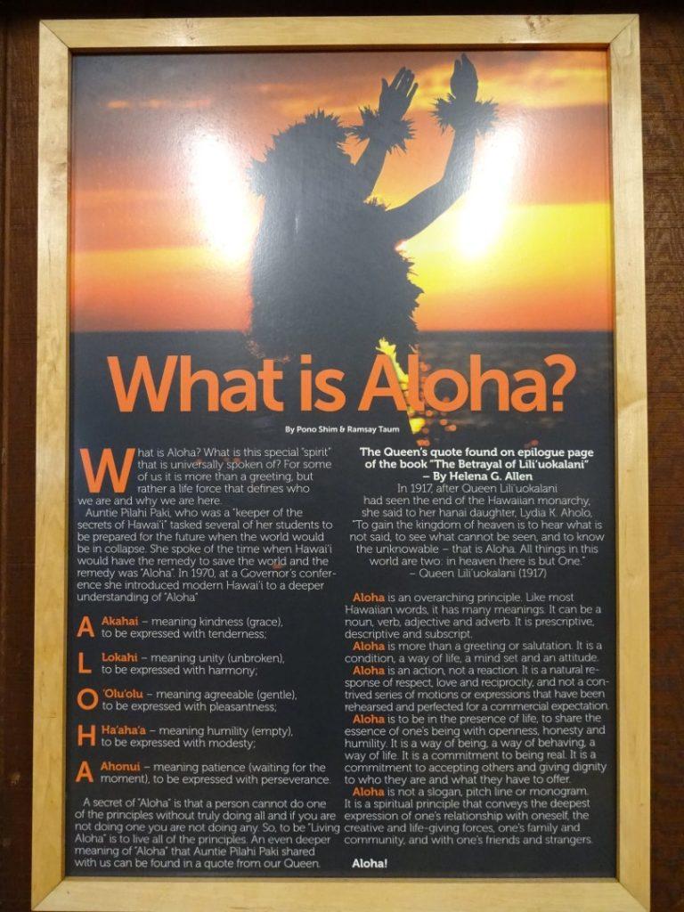 Aloha Erklärung Bedeutung Abkürzung Hawaii