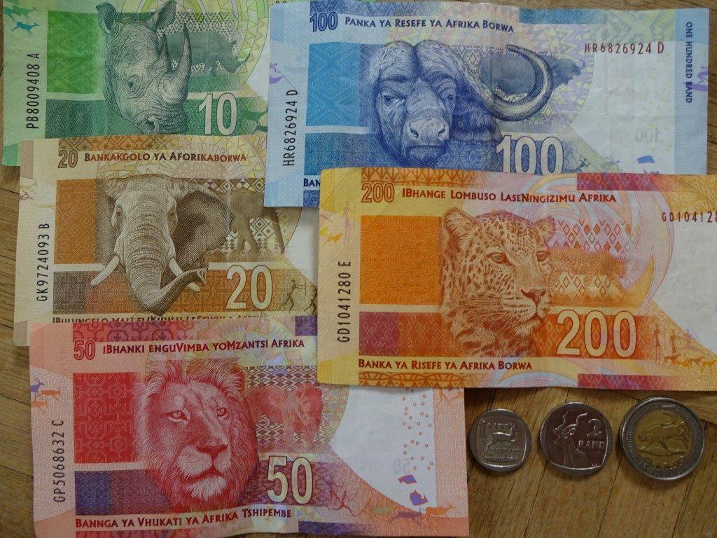 Südafrika Rand Geld Scheine Geldscheine Banknoten Big Five