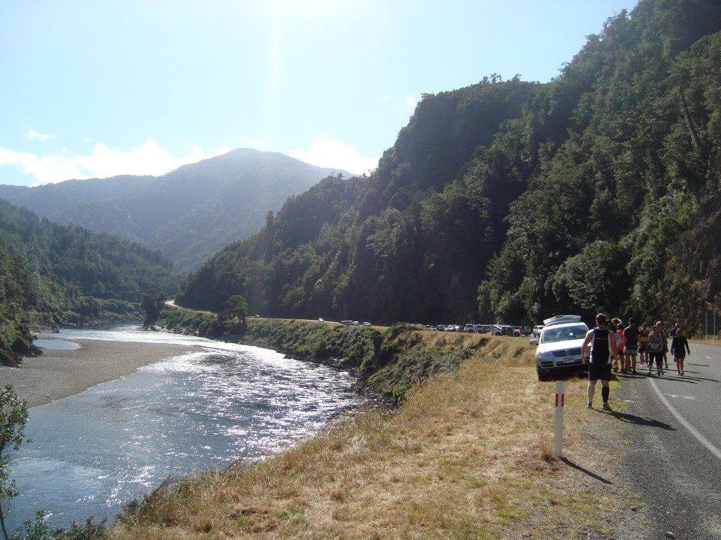 Buller Gorge Marathon Halbmarathon Westport Südinsel Neuseeland