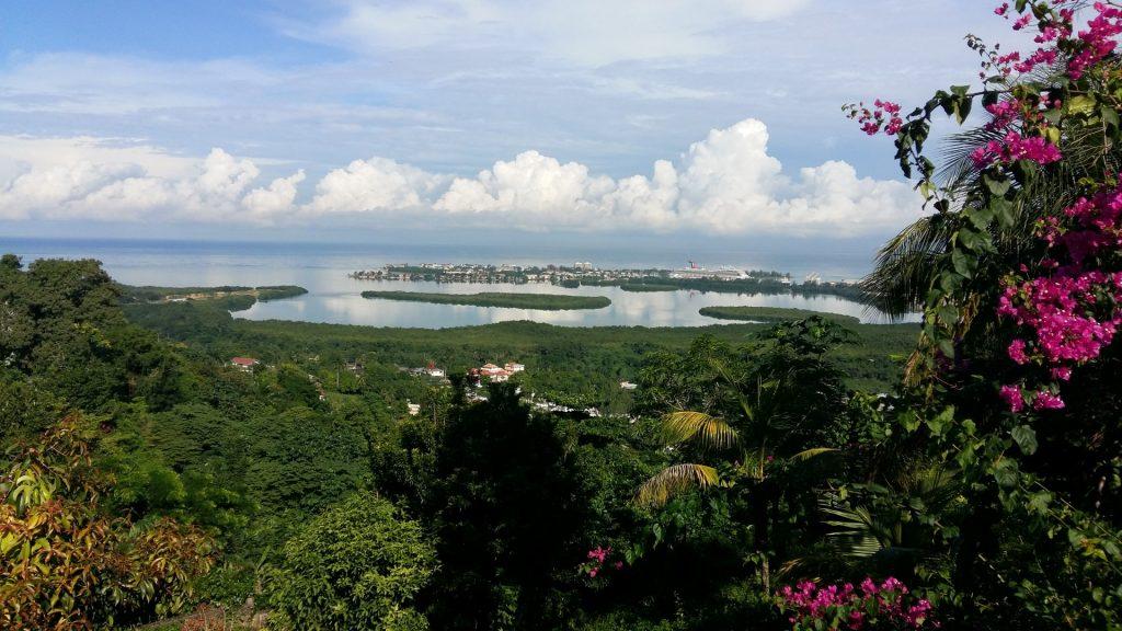 Aussicht Terrasse Cedar Ridge Lodge Montego Bay Jamaika