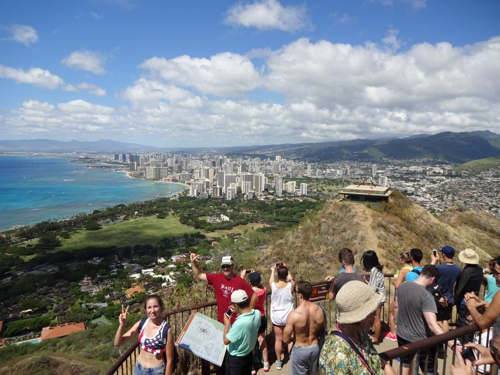 Ausblick Diamond Head Waikiki Honolulu Oahu Hawaii