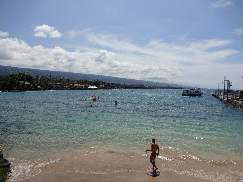 Kailua Bay Kona Schwimmen Ironman Big Island Hawaii