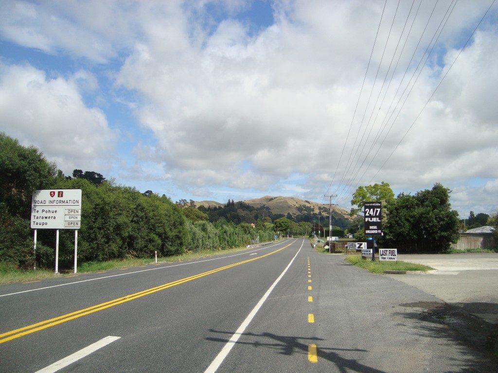 letzte Tankstelle Napier Taupo Nordinsel Neuseeland