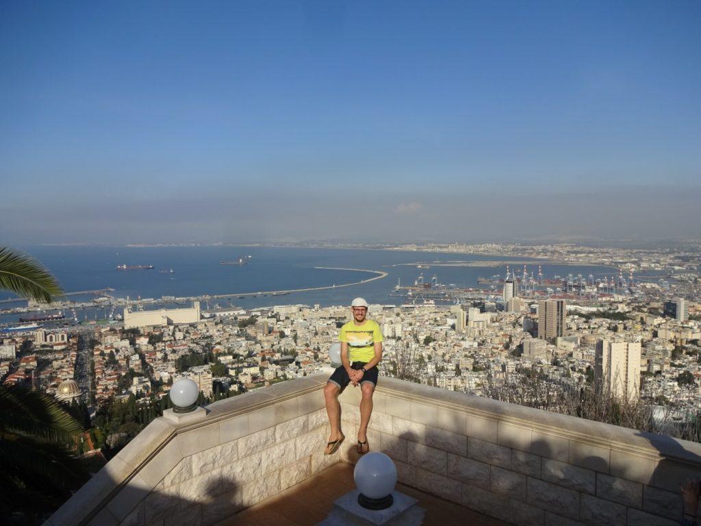 Ausblick Aussicht Bahai Gardens Haifa Israel