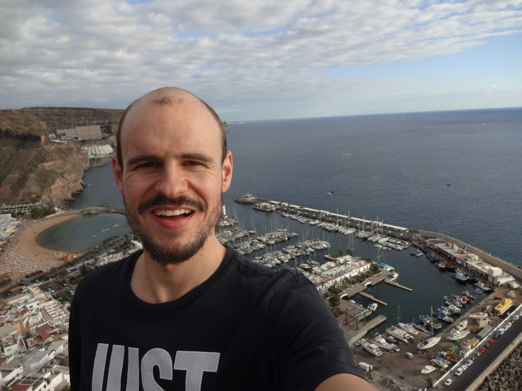 Berg Hügel Aussicht Puerto de Mogan Gran Canaria