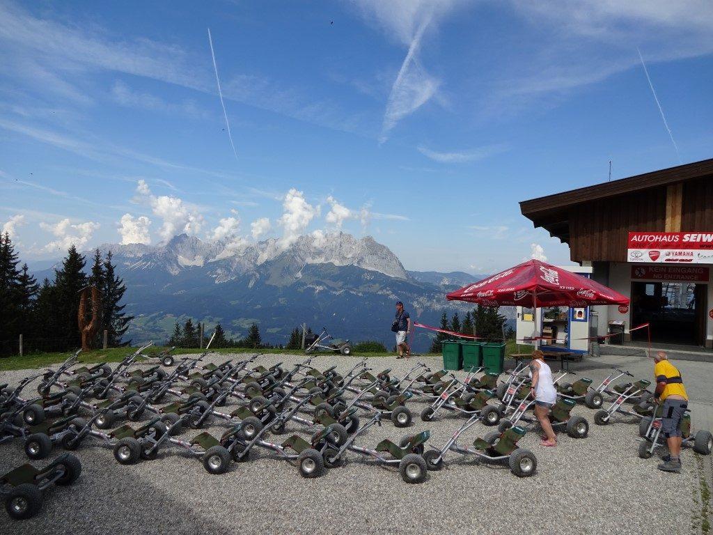 Harschbichl Lift Mountain Cart St. Johann Tirol Österreich