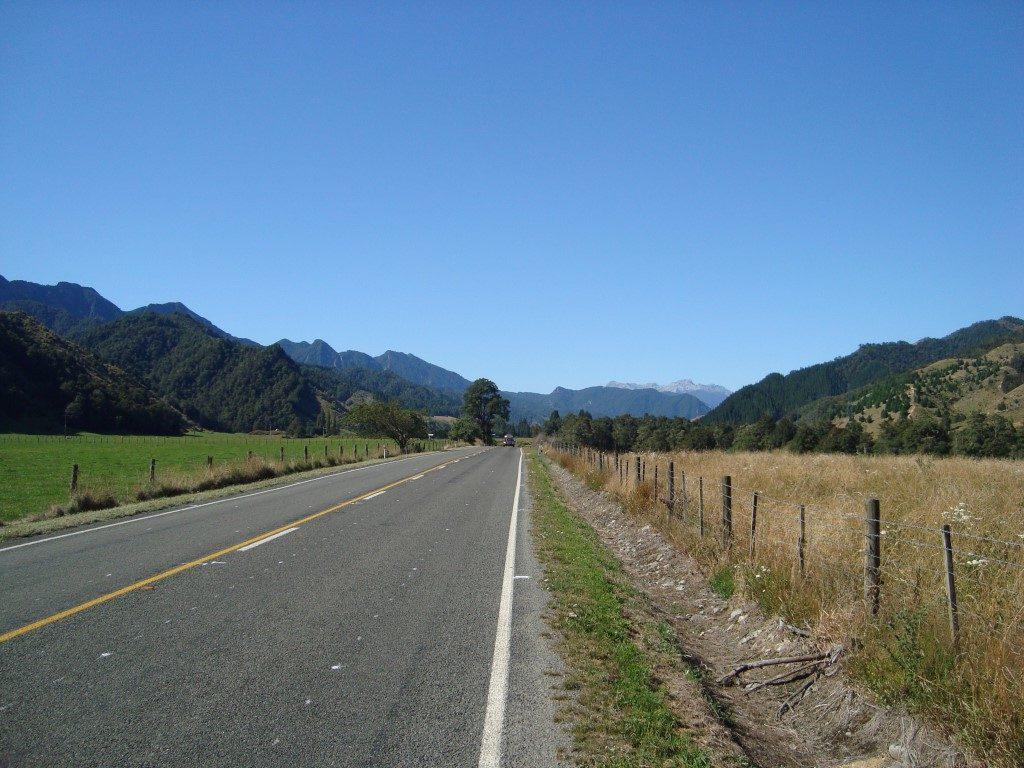 Murchison Straße Südinsel Neuseeland