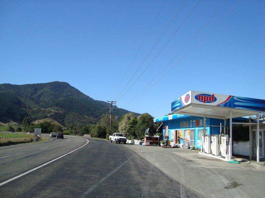 NPD Tankstelle Südinsel Neuseeland