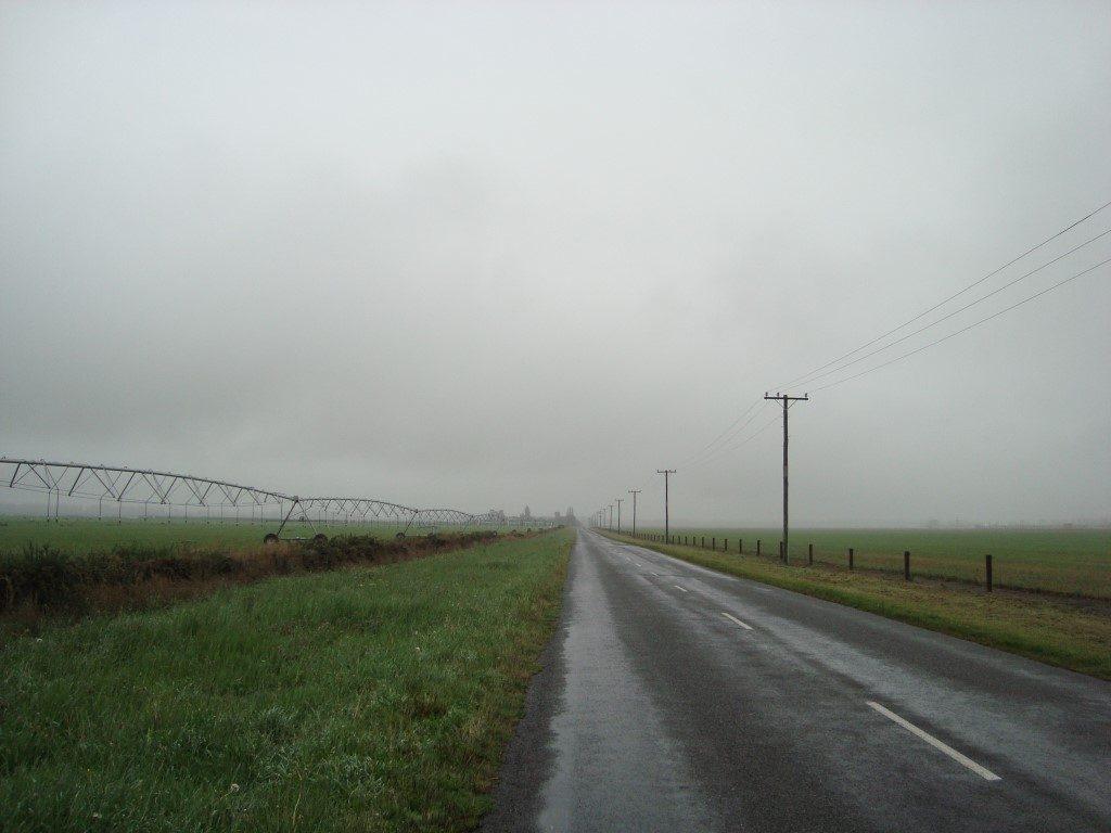 Rakaia Regen Südinsel Neuseeland
