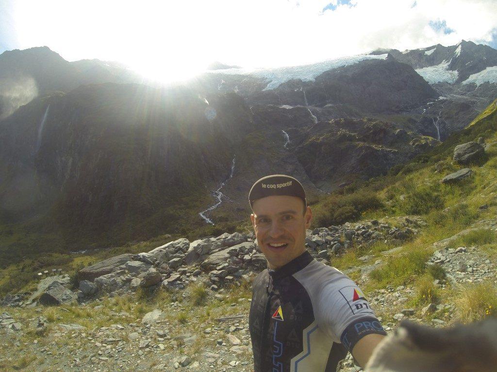 Upper Lookout Rob Roy Gletscher Südinsel Neuseeland