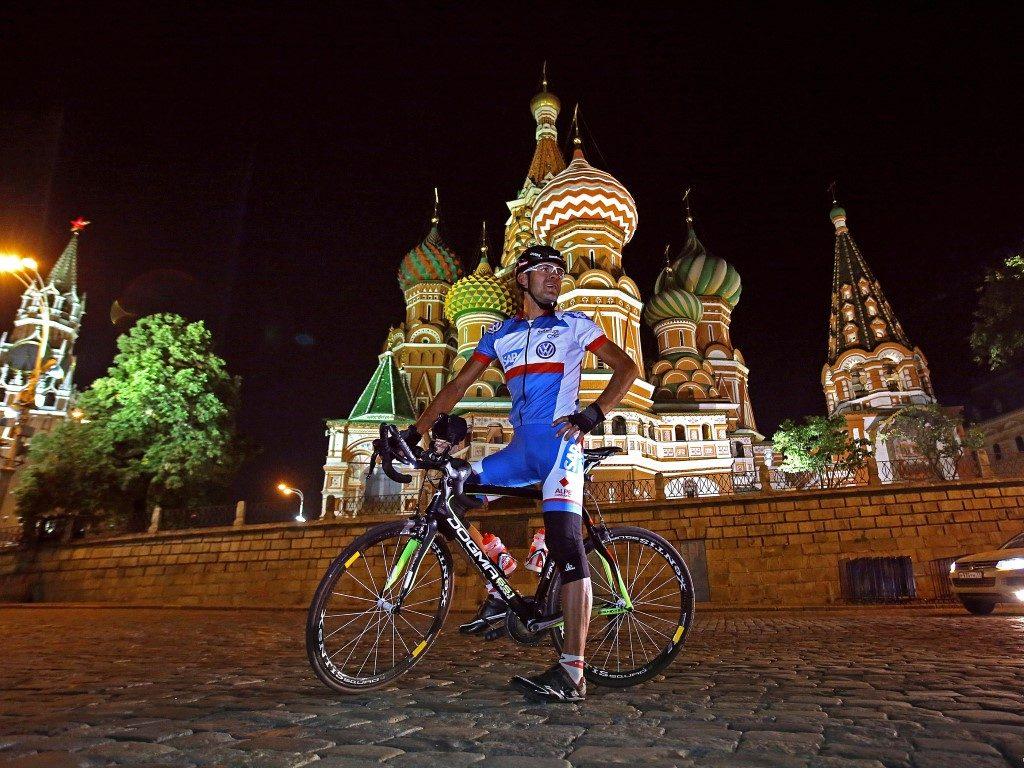 Wolfgang Fasching Kreml Moskau Radtour Radmarathon Russland Russia Coast