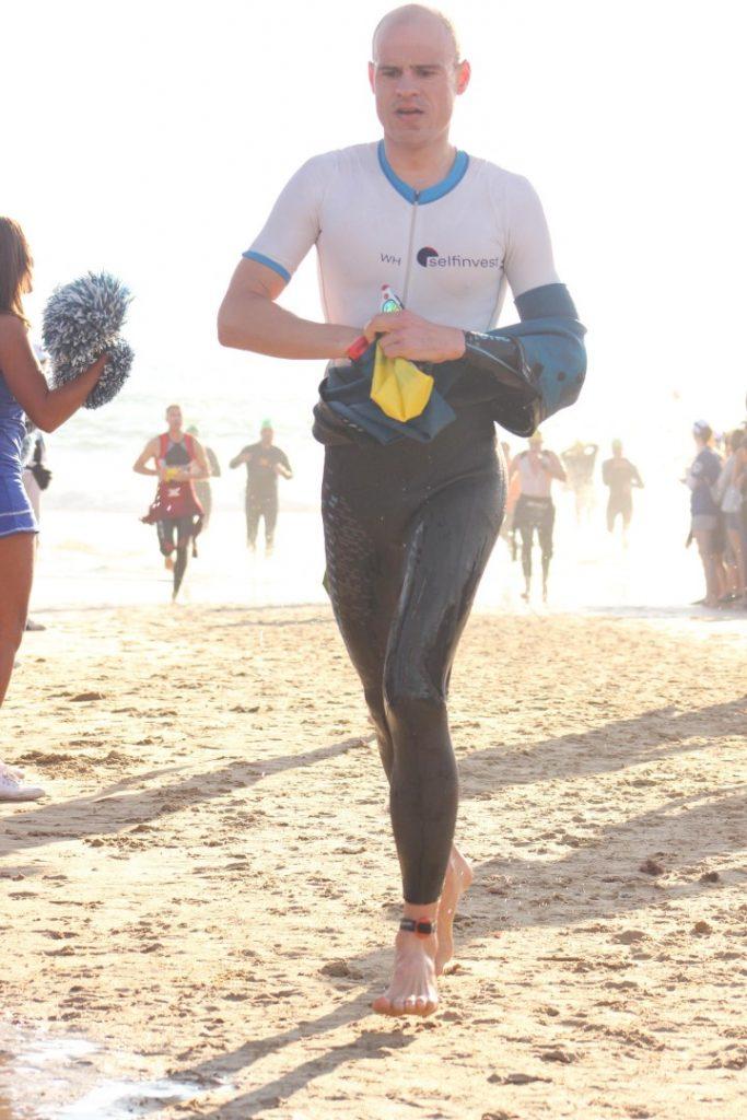 Schwimmausstieg Hobie Beach Wechselzone Ironman Südafrika 2016 Port Elizabeth