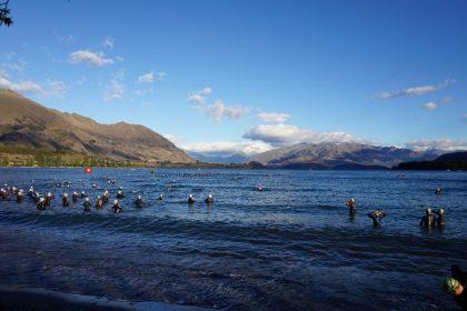 Challenge Wanaka Schwimmen Schwimmstart Lake See Südinsel Neuseeland