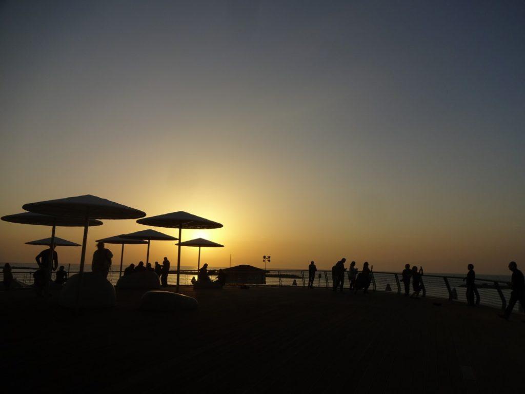 Sonnenuntergang Tel Aviv Israel