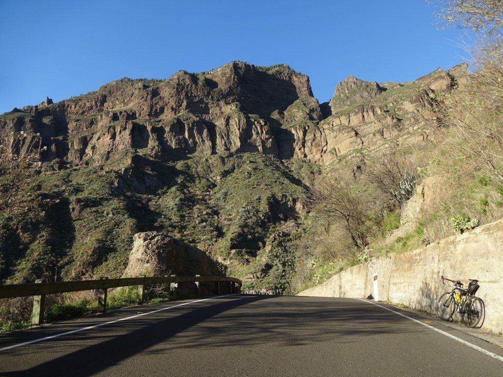 Straße Landschaft Artenara Gran Canaria