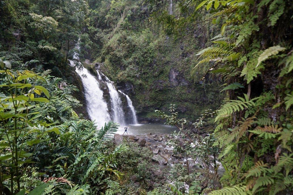 Upper Waikani Falls Road to Hana Maui Hawaii