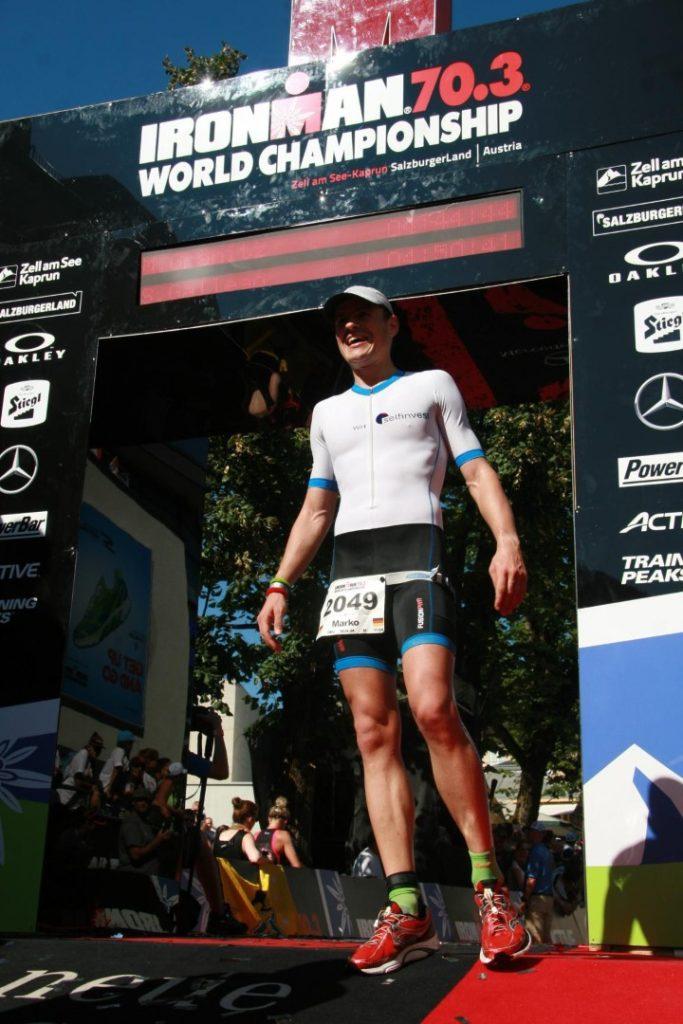 Ziel Zielfoto Ironman 70.3 WM Zell am See Österreich