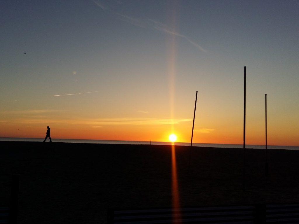 Sonnenaufgang Strand Küste Adria Cervia Italien