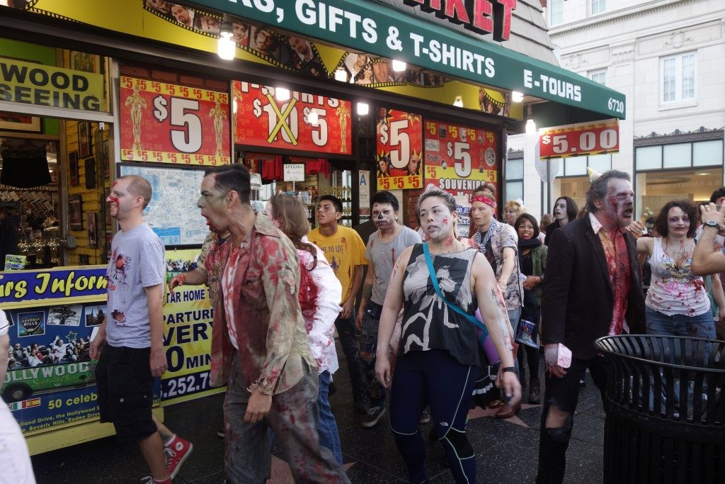 Hollywood Boulevard Zombie Kalifornien