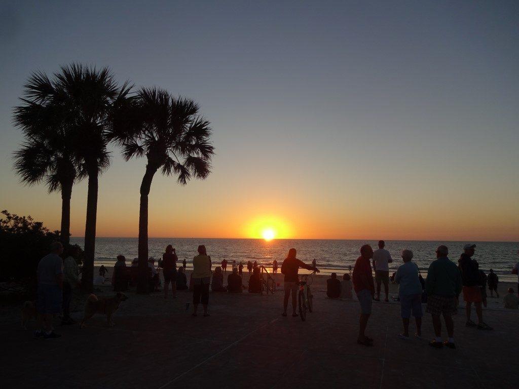 Pass A Grille Beach Westküste Sonnenuntergang Florida