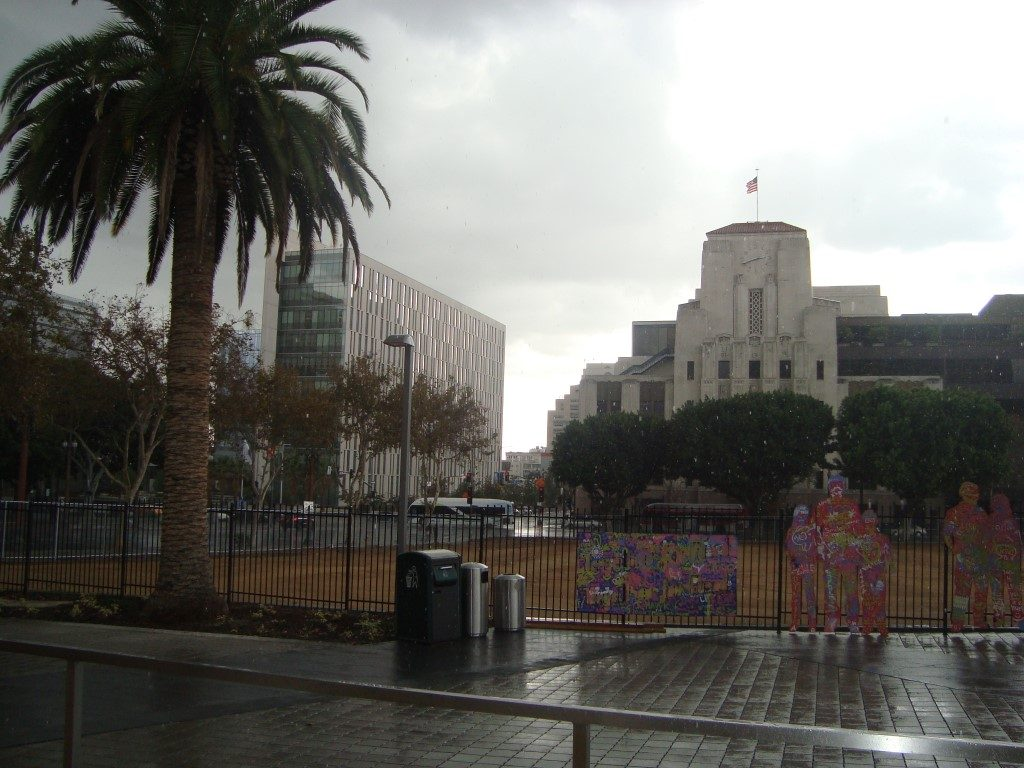 Regen Los Angeles Kalifornien