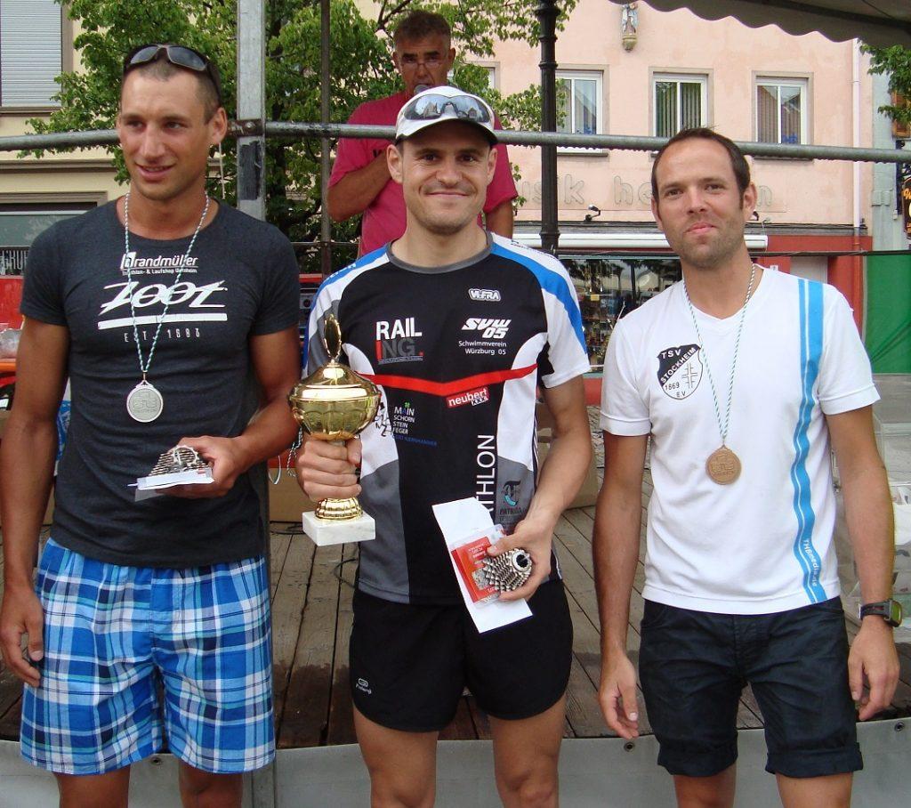 Triathlon Hofheim Mitteldistanz 2014 Siegerehrung Marko Gränitz