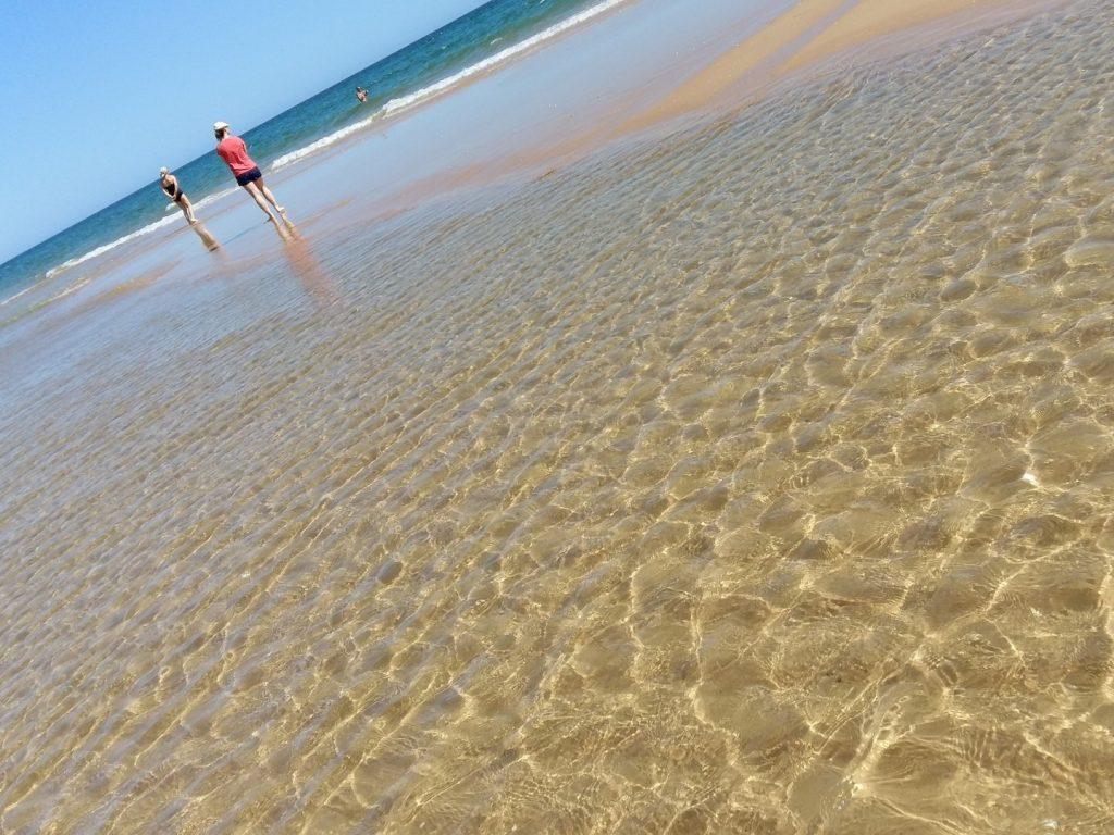 Strand Sandbank Monte Gordo Algarve Portugal