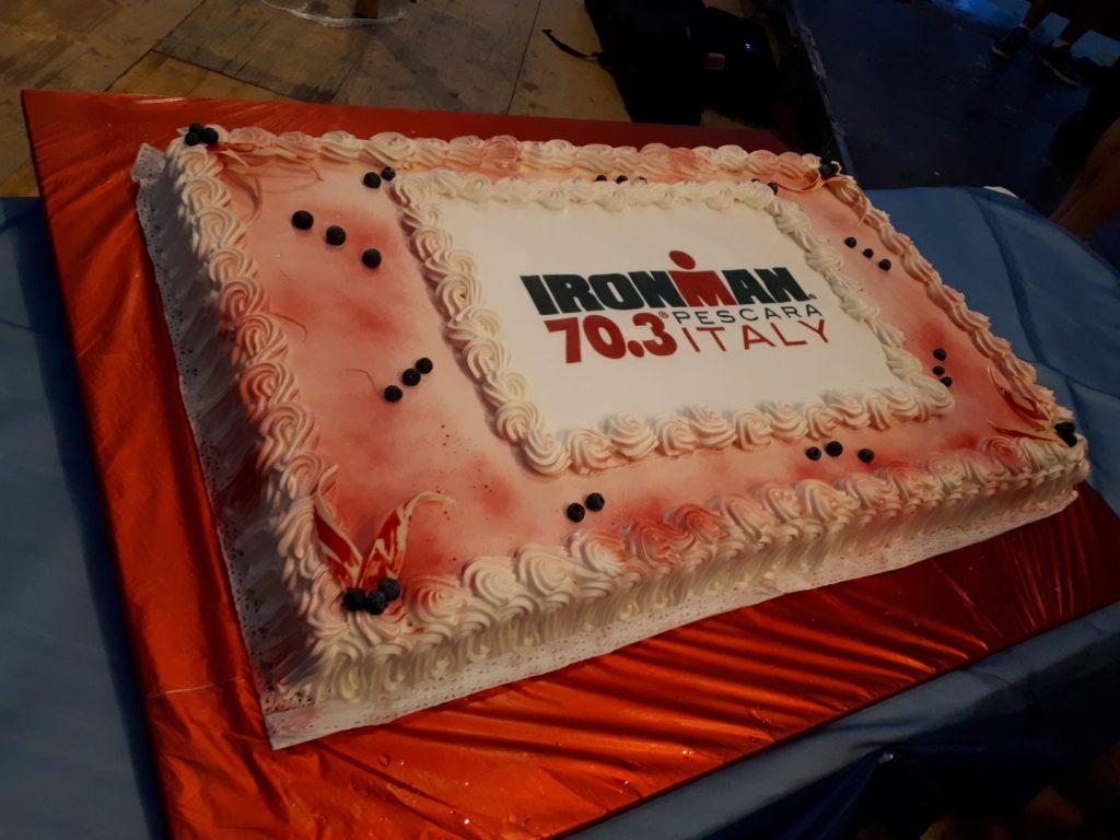 Ironman Torte Dessert Nachspeise Welcome Buffet Ironman 70.3 Pescara Italien