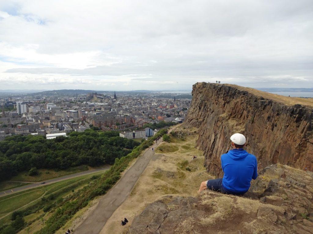 Klippe Holyrood Park Edinburgh Schottland