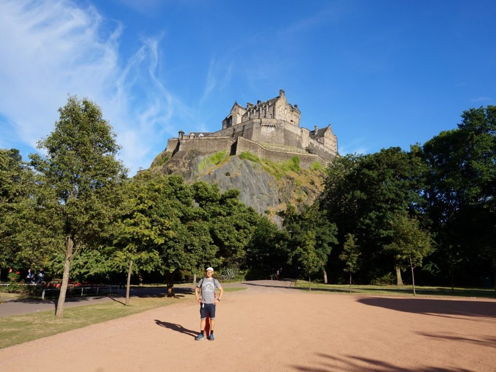 Rückseite Edinburgh Castle Schottland