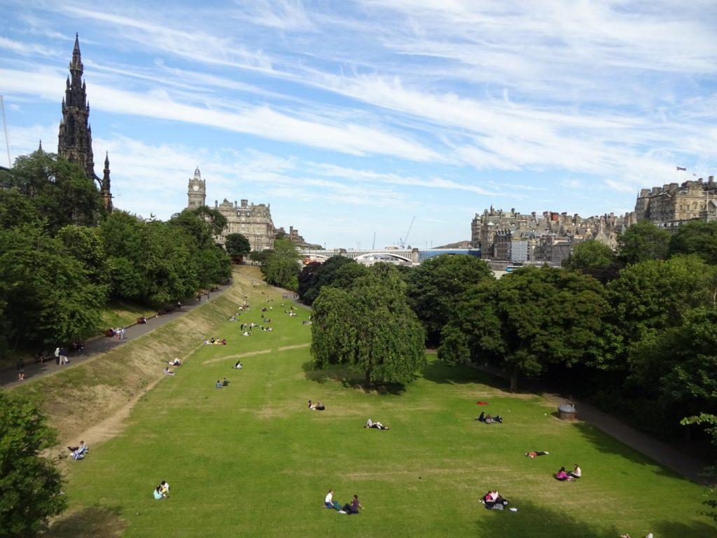 Stadtpark Zentrum Innenstadt Edinburgh Schottland