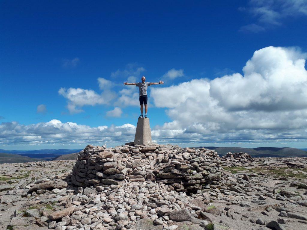 Gipfel Ben Macdui Cairngorms Nationalpark Highlands Schottland