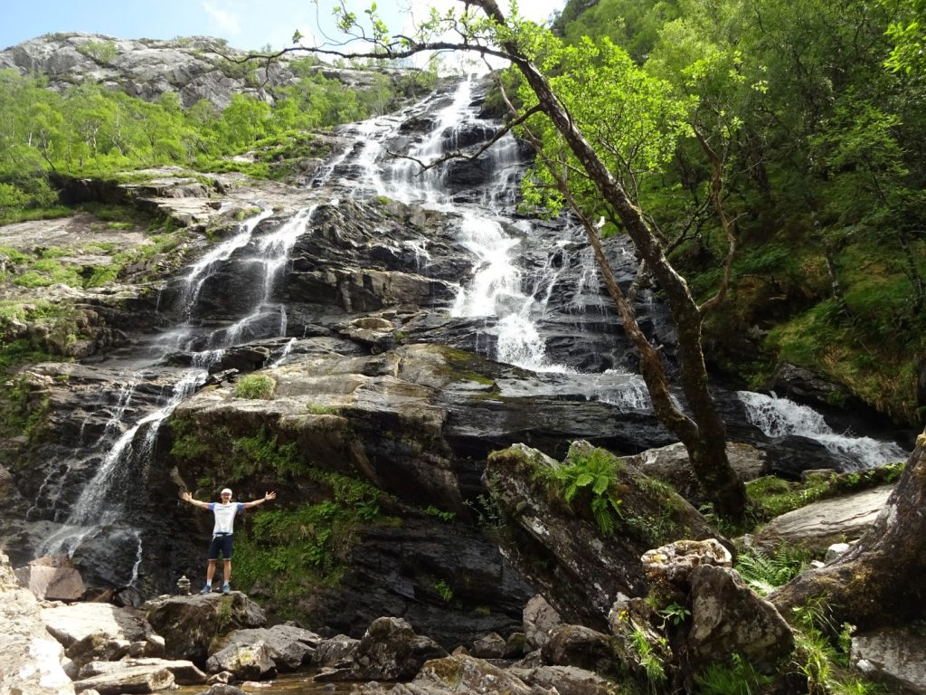 Steall Falls Highlands Schottland