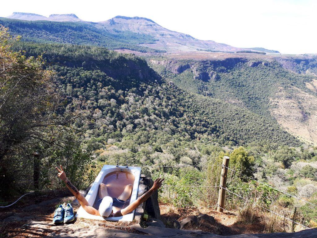 Badewanne Away with the Fairies Hogsback Südafrika