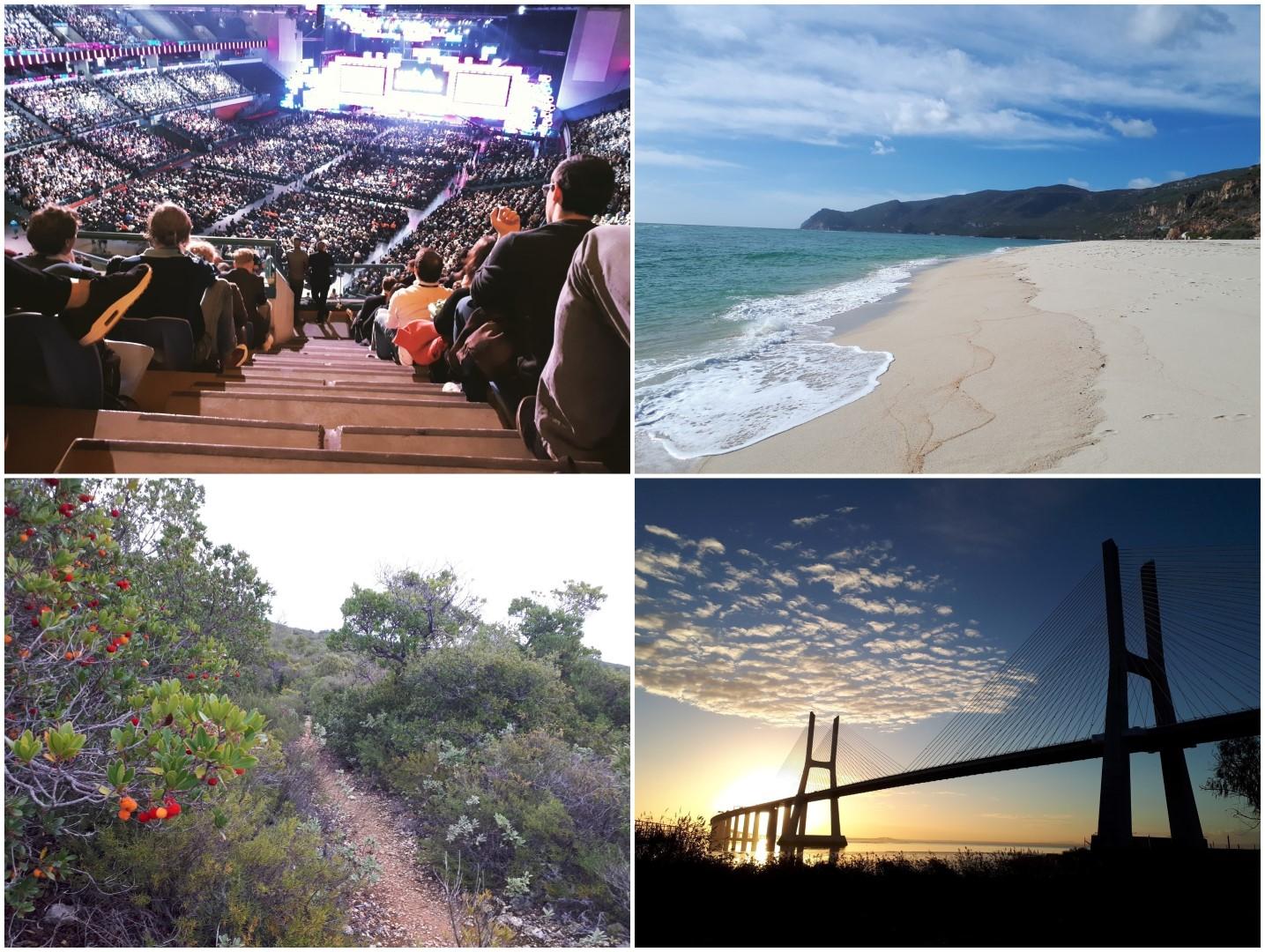 Web Summit und Lauftraining in Lissabon