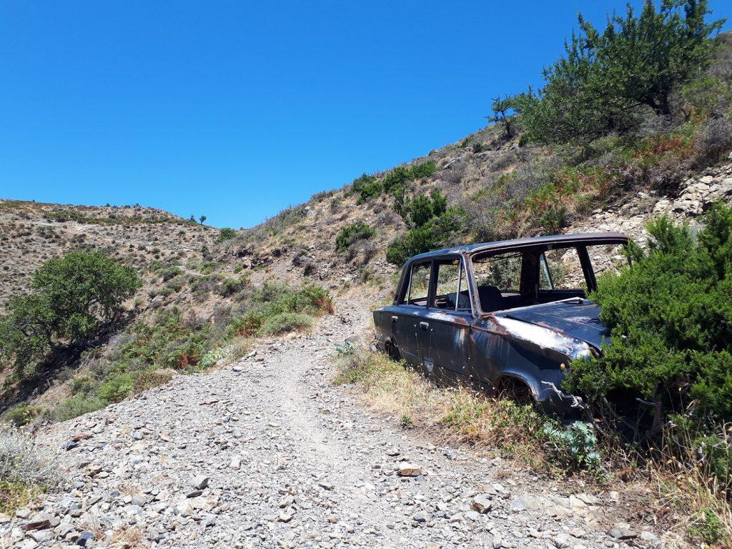Riserva Naturale Fiumedinisi Auto Sizilien Italien