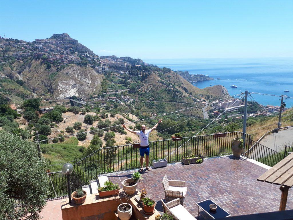 Aussicht Taormina Sizilien Italien