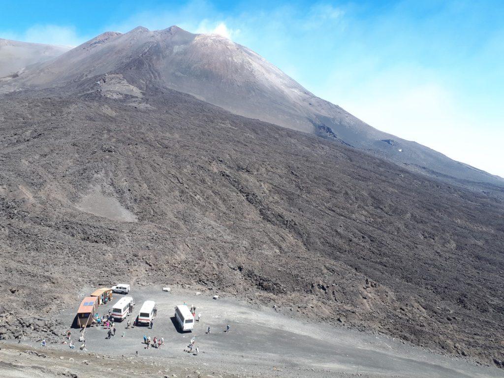 Ätna Vulkan Jeep Bus Sizilien Italien