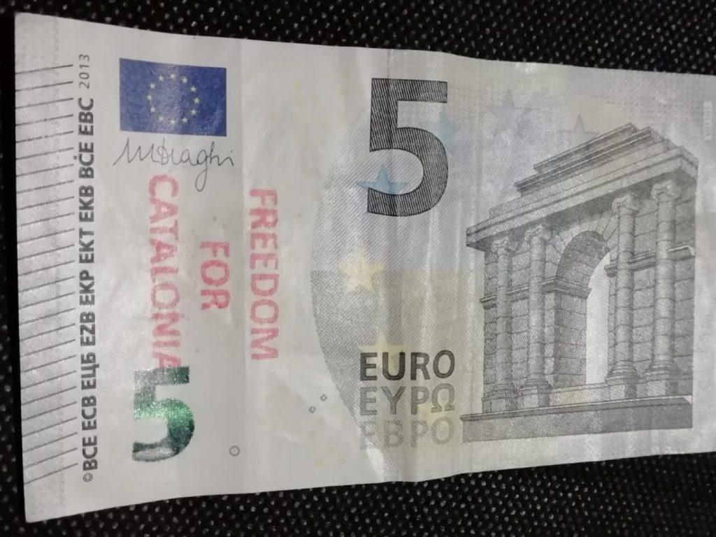 Katalonien Spanien Unabhängigkeit Geldschein