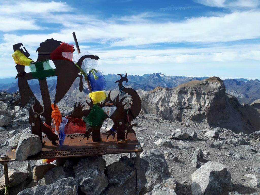 Gipfel Skulptur Zeichen Monte Perdido Pice de Aneto Pyrenäen