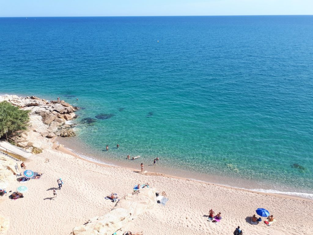 Strand Calella Katalonien Spanien