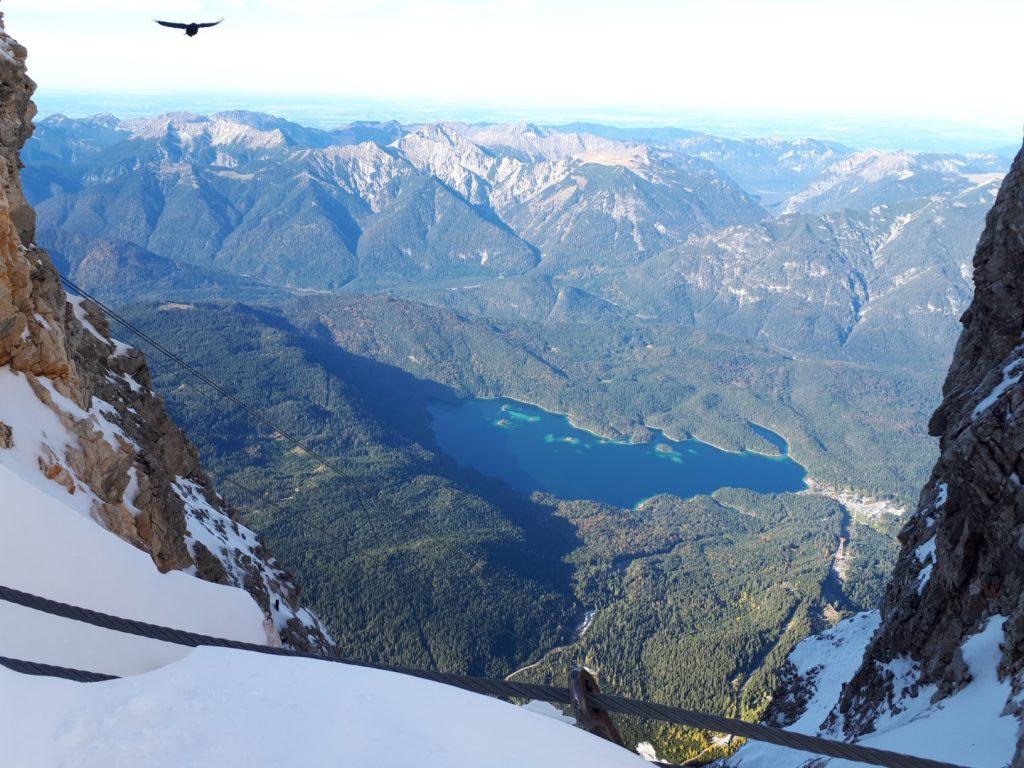 Blick Zugspitze Eibsee Alpen