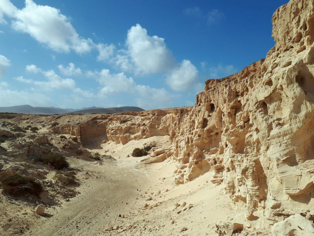 Sandstein Felsen Fuerteventura Kanaren