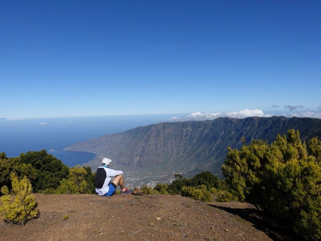 Malpaso Frontera Tal Bergkette Aussicht El Hierro Kanaren